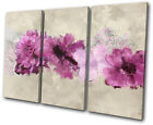 Floral Painted Flowers  CANVAS WALL ART Picture Print VA
