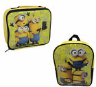 DESPICABLE ME MINIONS LUNCH BAGS AND BACK PACKS - CC