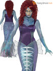 Size 8-18 Deluxe Ladies Zombie Mermaid Costume Sexy Halloween Fancy Dress Sea