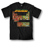 Adult Men's Epic Space Opera Movie Star Wars Periodic Table Crew Black T-shirt