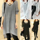 CHIC Women Casual Long Sleeve Knitted Pullover Tops Loose Sweater Knitwear New