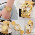 Gold Fashion Womens Crystal Diamond Rhinestone Luxury Mesh Strap Watch NEW