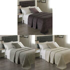 Paoletti Brooklands Velvet Embossed Quilted Bedspread