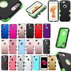 For Apple iPhone 7 & 7 PLUS IMPACT TUFF HYBRID Case Skin Cover + Screen Guard