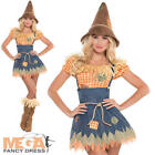 Scarecrow + Hat Ladies Fancy Dress Halloween Book Day Week Womens Costume Outfit