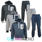 Mens Crosshatch Designer Casual Full Tracksuit Hooded Top and Bottoms Joggers