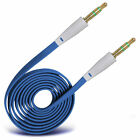 Gold Plated Jack To Jack Flat Aux Audio Cable For LG Nexus 5