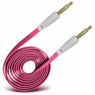 Gold Plated Jack To Jack Flat Aux Audio Cable For Samsung Gaalxy A3