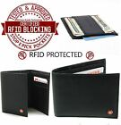 RFID Blocking Mens Wallets Alpine Swiss Genuine Leather Choice of Trifold Bifold