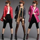 New Fashion Womens Down Coat Slim Winter Long Section Thin Hooded Down Jacket