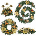 Pre-Lit LED Copper Gold Decorated Wreath Garland Swag Arch  Candle Holder