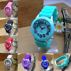 Kids Boys Girls Watch Fashion Geneva Silicone Jelly Rubber Quartz Wristwatch NEW