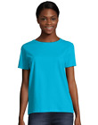 2 Hanes Women's Relaxed Fit Jersey ComfortSoft Creeneck T-Shirts 5680