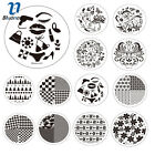 Blueness 12Design Nail Art Stamping Plate Template Transfer Decal Manicure JH235