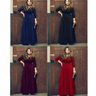 Plus Size Sexy Women's Bandage V Neck Long Sleeve Evening Party Long Maxi Dress