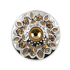 Drill Snaps Chunk Charm Crystal Button Fit For Noosa Leather Bracelet Champagne