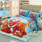 Christmas Man Single/Queen/Double/King Bed Quilt/Duvet Cover Set New Cotton Blue