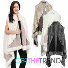 Womens Waterfall Fur Waistcoat Ladies Long Faux Fur Casual Gilet Coat Jacket