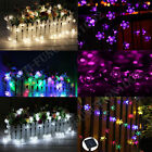 Solar flower shape String Lights Outdoor For Christmas Party Waterproof 50 led