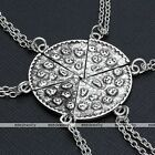 Silvery Cute Pizza Bead Pendant Charm Chain Necklace Men Women Unisex Xmas Gift