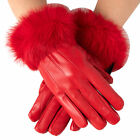 Alpine Swiss Womens Dressy Gloves Genuine Leather Thermal Lining Rabbit Fur Cuff