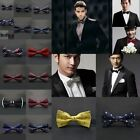 Classic Mens Bow Tie Bowtie Pre-tied Wedding Party Formal Satin Necktie Tuxedo
