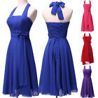 Free Ship New Short Chiffon Bridesmaid Evening Gowns Cocktail Prom Dress 6 8~20