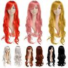 Fashion Cosplay Wig Womens Long Curly Wavy Hair Full Wigs Party Costume Wig 67.5