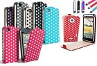 PU Leather Polka Dots Mobile Flip Case Cover for Apple iPhone 5/5S 4/4S iTouch 5