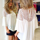 Ladies Casual Chiffon Loose T Shirt Plus Size Women Sexy Tops Blouse Tee Fashion