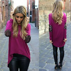 Fashion Womens Ladies Loose T Shirt Long Sleeve Plus Size Casual Tops Blouse