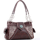 Realtree Floral Embroidered Leather Western Studded Bag
