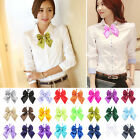 New Fashion Women Girl's Party Banquet Solid Stain Knot Cravat Bow Tie Necktie