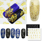 3D Silver Gold Nail Art Stickers Decals Stamping Nail Tips Decoration Tools Hot