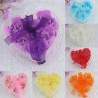 6Pcs Bath Body Flower Heart Favor Soap Rose Petal Wedding Decoration Party Gifts