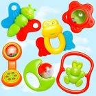 6 X New Plastic Hand Jingle Shaking Bell Rattle Toddler Baby Music Musical Toy