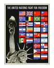 United Nations Fight for Freedom #2 - Reproduction WWII US Propaganda Poster