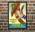 Americans All - Fight for Victory - WWII US Propaganda Poster ww2