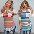 New Fashion Women's Casual Loose Tops Long Sleeve T-Shirt Summer Blouse