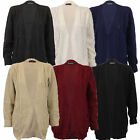 Ladies Cardigans Womens Knitted Jumper Cable Boyfriend Chunky Open Front Winter