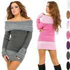 Glamour Empire. Women's Knit Bardot Jumper Pullover Off-shoulder Tunic Top. 428