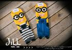 american street cartoon despicable me minion mascot unisex ankle socks JN7024