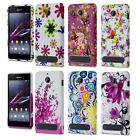 For Sony Xperia E1 Flower Patterned Printed Silicone Soft Skin Case Gel Cover