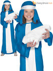 Girls Virgin Mary Fancy Dress Costume Childs Nativity Christmas Outfit Childrens