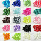Multi-Color Acrylic Round Pearl Spacer Loose Beads  400x4mm 200x6mm 100x8mm