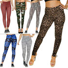 New Womens Ladies Animal Leopard Print Full Length LEGGINGS Size S M L XL XXL 10