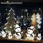 5 Snowman Christmas Vinyl Sticker Snowflake Wall Art Kid Shop Window Decor Decal