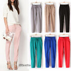 Casual Sport Drawstring Elastic Waist Chiffon Harem Pant Trousers Hot Sale Women
