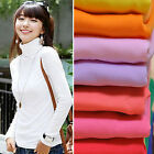 CH Fashion Women Pullover Turtleneck Sweater Long Sleeve Shirt Bottoming Shirt