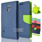 For GALAXY S6 ACTIVE CT2 Fitted Leather PU WALLET POUCH Case Colors